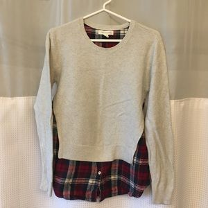 Plaid and Grey Sweater